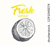 fresh lemon vector banner... | Shutterstock .eps vector #1291040074