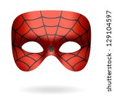 spider mask. vector. | Shutterstock .eps vector #129104597