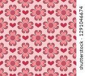 happy valentine's day. seamless ... | Shutterstock .eps vector #1291046674