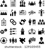 human resources management icons | Shutterstock .eps vector #129105455