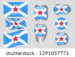 flag of clarksburg  west...   Shutterstock .eps vector #1291057771