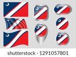 flag of clinton  south carolina   Shutterstock .eps vector #1291057801