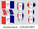 flag of cleveland  ohio   Shutterstock .eps vector #1291057807