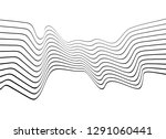 black and white mobious wave... | Shutterstock .eps vector #1291060441