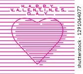 happy valentines day digital... | Shutterstock .eps vector #1291064077