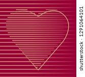 happy valentines day heart... | Shutterstock .eps vector #1291064101