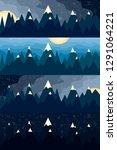 mountain landscape at... | Shutterstock . vector #1291064221