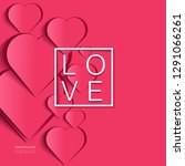 valentines day background with... | Shutterstock .eps vector #1291066261