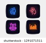 neon set of speakers ... | Shutterstock .eps vector #1291071511