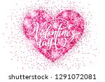 valentine's day holiday banner... | Shutterstock .eps vector #1291072081