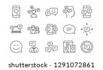 message and communication icons.... | Shutterstock .eps vector #1291072861