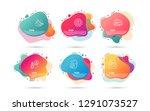 dynamic liquid shapes. set of... | Shutterstock .eps vector #1291073527
