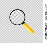 glass  loupe or search. yellow... | Shutterstock .eps vector #1291073644