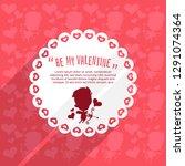 cupid valentine's day... | Shutterstock .eps vector #1291074364