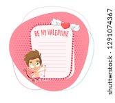 cupid valentine's day... | Shutterstock .eps vector #1291074367