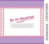 valentine's day background  | Shutterstock .eps vector #1291074394