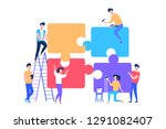 teamwork in process creating... | Shutterstock .eps vector #1291082407