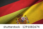 germany and spain two flags...   Shutterstock . vector #1291082674