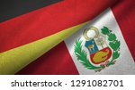 germany andperu two flags...   Shutterstock . vector #1291082701