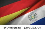 germany and paraguay two flags...   Shutterstock . vector #1291082704