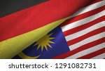 germany and malaysia two flags...   Shutterstock . vector #1291082731