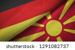 germany and macedonia two flags ...   Shutterstock . vector #1291082737
