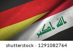 germany and iraq two flags...   Shutterstock . vector #1291082764