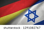 germany and israel two flags...   Shutterstock . vector #1291082767