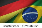 germany and brazil two flags...   Shutterstock . vector #1291082854