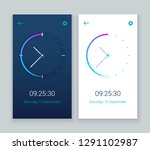clock mobile app concept ui...