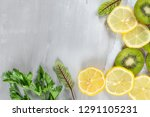 a freshly prepared smoothie of... | Shutterstock . vector #1291105231
