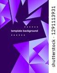 polygonal abstract illustration.... | Shutterstock .eps vector #1291113931