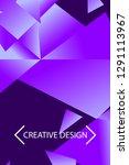 polygonal abstract illustration.... | Shutterstock .eps vector #1291113967