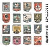 ice hockey sport icons with... | Shutterstock .eps vector #1291120111