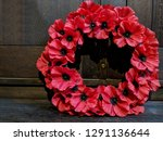 A Wreath Of Red Poppies Laid At ...