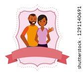 young couple cartoon | Shutterstock .eps vector #1291140691
