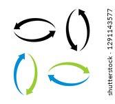 circle logo template vector  ... | Shutterstock .eps vector #1291143577
