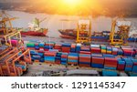 logistics and transportation of ... | Shutterstock . vector #1291145347