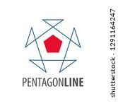 pentagon line logo concept... | Shutterstock .eps vector #1291164247