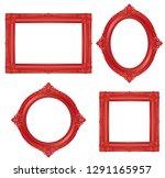red antique frame. vector... | Shutterstock .eps vector #1291165957