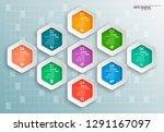 vector abstract 3d paper... | Shutterstock .eps vector #1291167097