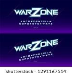 sport  game alphabet font.... | Shutterstock .eps vector #1291167514