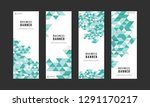 business banner with abstract... | Shutterstock .eps vector #1291170217