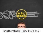 teamwork solutions concepts on... | Shutterstock . vector #1291171417