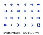 vector arrow icon set | Shutterstock .eps vector #1291172791