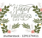 happy valennes day label with... | Shutterstock .eps vector #1291174411