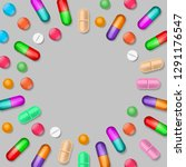 medical background with colored ... | Shutterstock .eps vector #1291176547