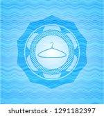 hanger icon inside light blue... | Shutterstock .eps vector #1291182397