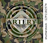 artery written on a camouflage... | Shutterstock .eps vector #1291182574
