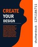 abstract background between... | Shutterstock .eps vector #1291186711
